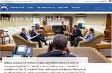 """""""Un nuevo rumbo para Cuba"""": nueva página web creada por la Casa Blanca dedicada al acuerdo entre Estados Unidos y Cuba"""