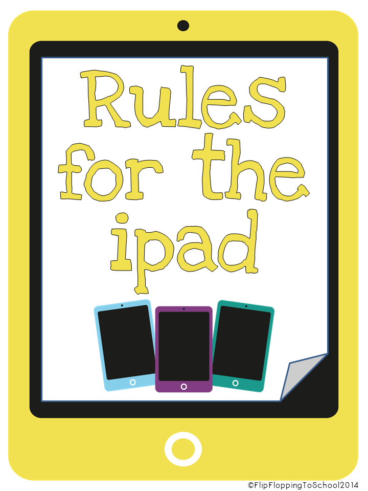 http://www.teacherspayteachers.com/Product/Ipad-Rules-Posters-for-Classroom-1363106