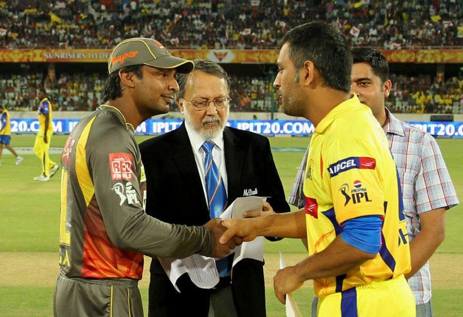 Kumar-Sangakkara-MS-Dhoni-SRH-vs-CSK-IPL-2013
