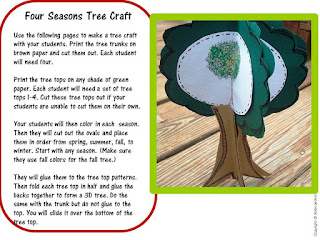 foldable tree craftivity