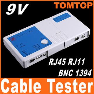 4 in 1 RJ45 RJ11 BNC 1394 USB LAN Network Phone Cable Tester Meter