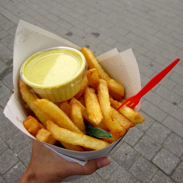 Bruxelles - frites de la Maison Antoine - http://spicerabbits.blogspot.fr/