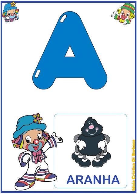 Alfabeto Patati Patata para Imprimir Grátis