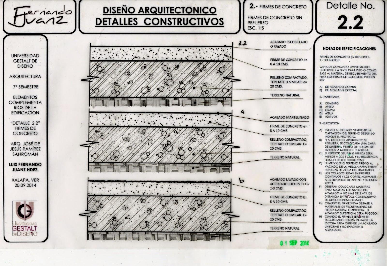 Elementos complementarios de la edificaci n detalle for Detalles constructivos de piscinas