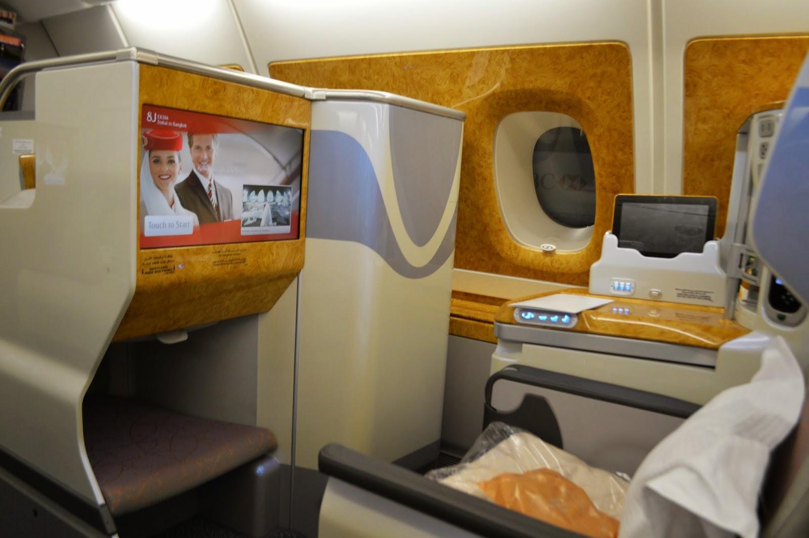 Emirates A380 business class Dubai to Sydney
