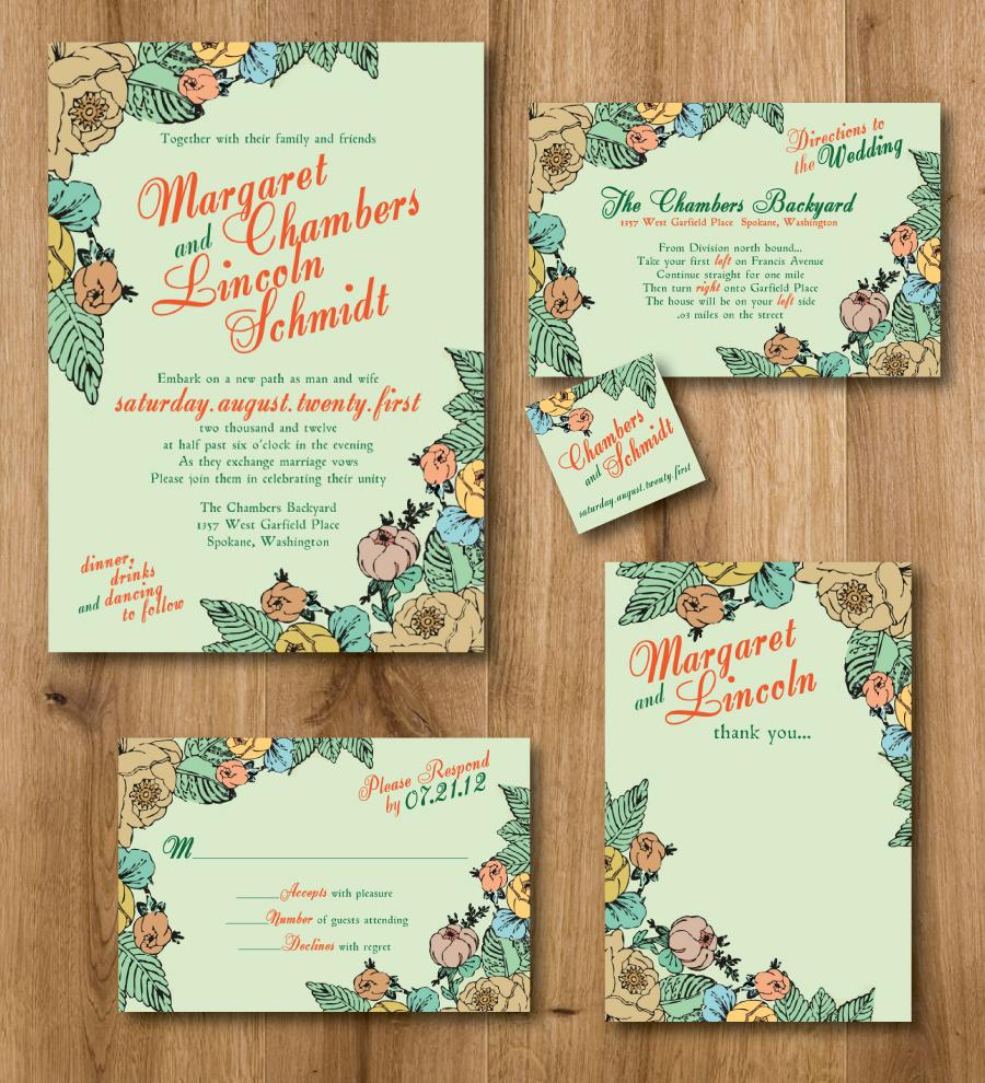 Wedding Invitation For A Spring Wedding