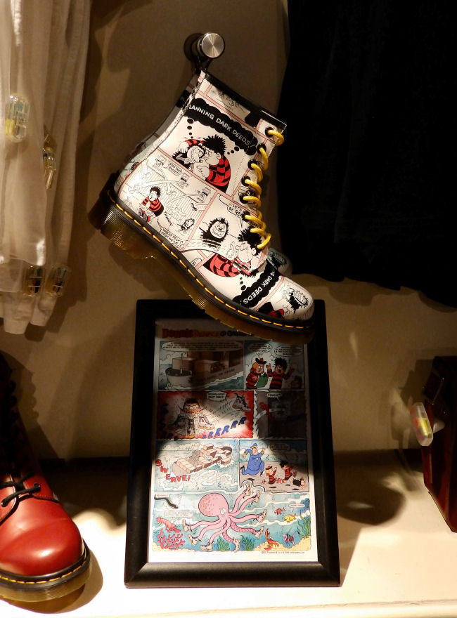 Dr Martens Liverpool One store review Beano boots