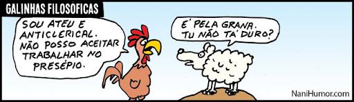 As galinhas filosóficas. presépio
