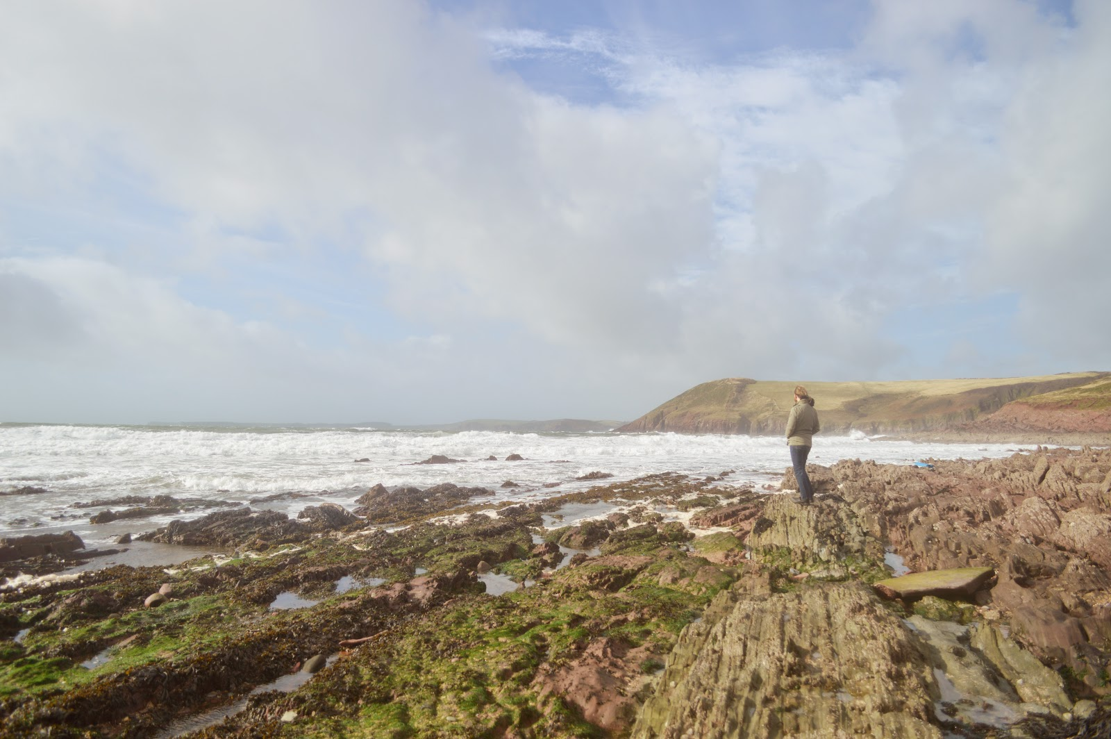 Secluded manorbier Beach Pembrokeshire