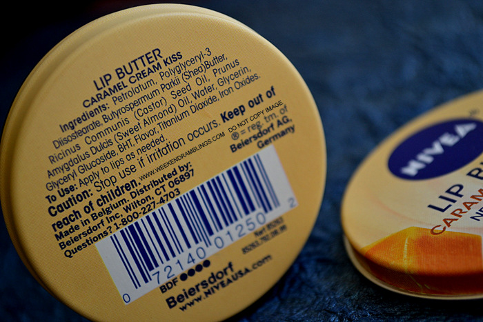Nivea Lip Butter Balm Tin Makeup Beauty Skincare Blog Caramel Cream Raspberry Rose Vanilla Macadamia Smooth Kiss Review Photos Ingredients