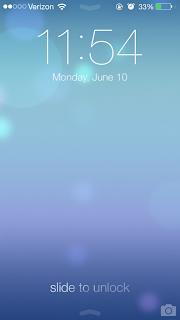 Pantalla de desbloqueo en iOS 7