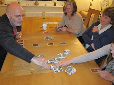 Saboteur 2 - Crispin lays his next card. Can you spot the 2 saboteurs?! Yes it is the wise one and the young one!