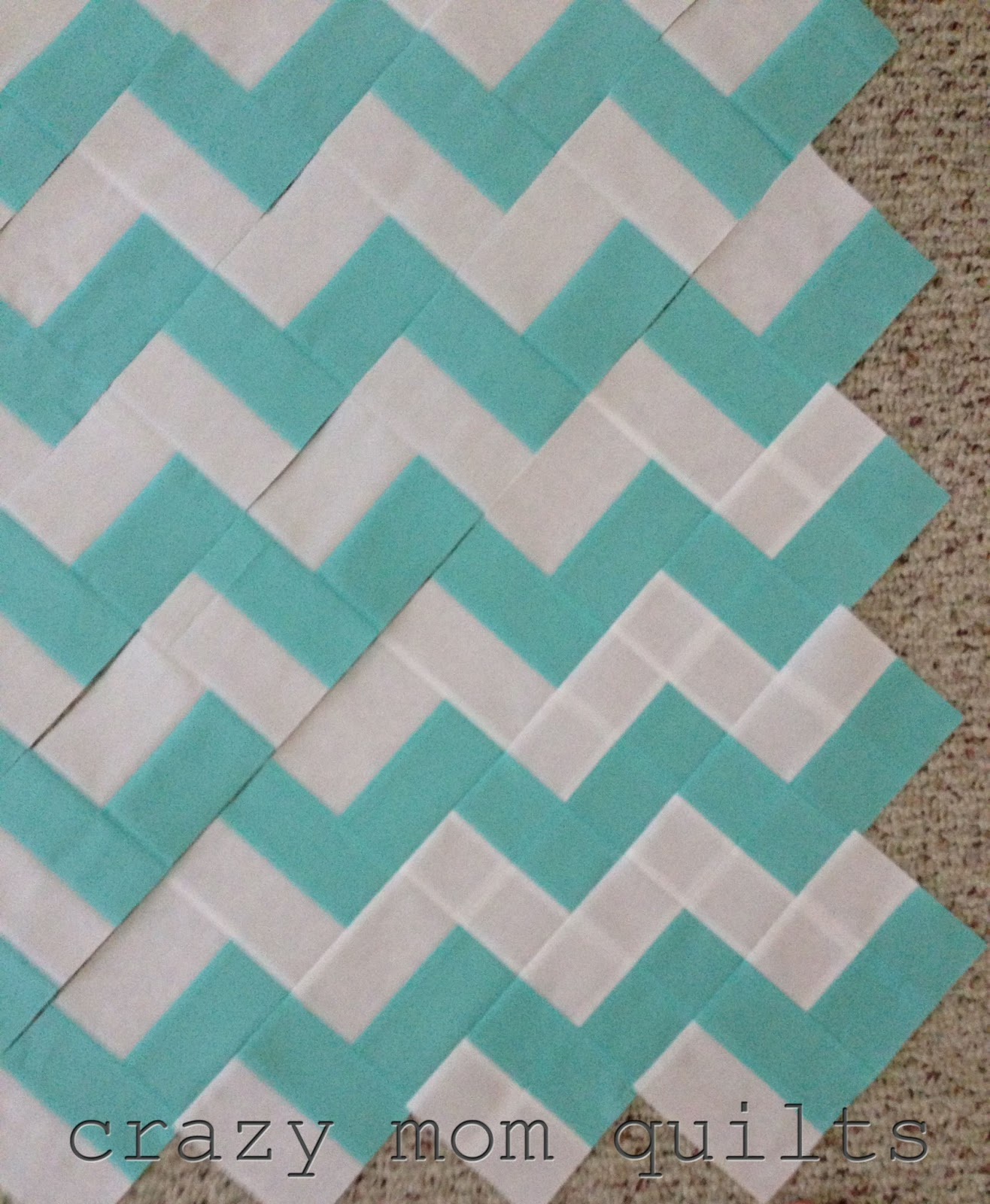 Chevron Quilt Pattern Using Jelly Roll : crazy mom quilts: WIP Wednesday