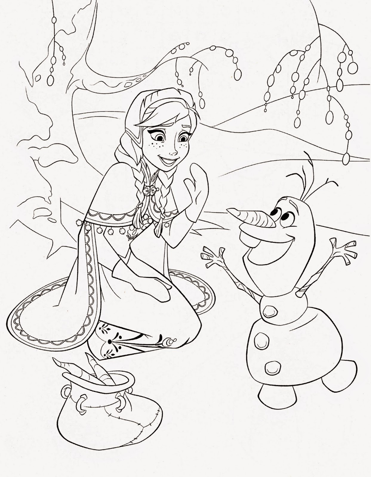 olaf coloring pages