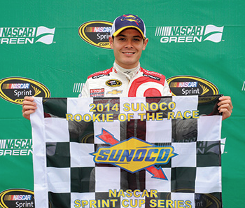 Larson Wraps Up 2014 NASCAR Season With ROY Honors