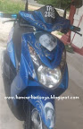 Scooter biru
