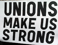 sign syaing, Unions make us strong.