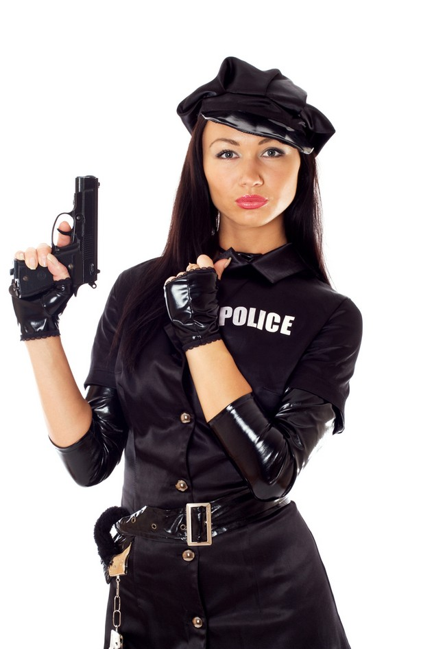 Female police officer and police uniform 7