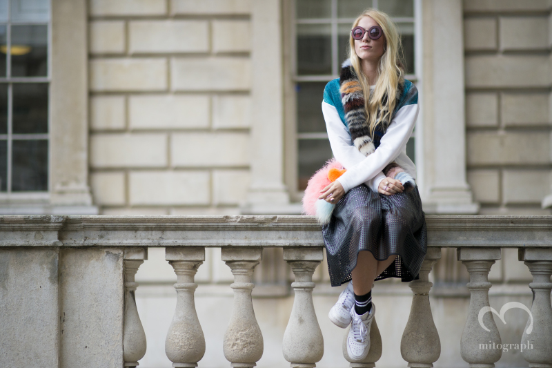 Laura Tønder at Somerset House during London Fashion Week 2015 Spring Summer LFW