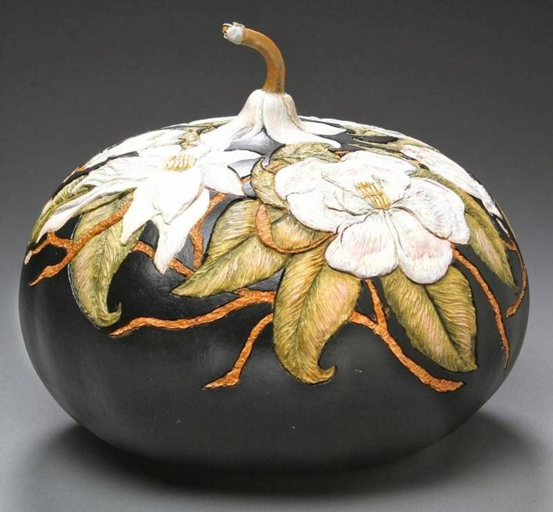 Pumpkin Carved Sculptures By Marilyn Sunderland