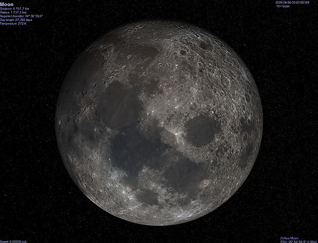 Imagen del satélite natural de la Tierra la Luna.
