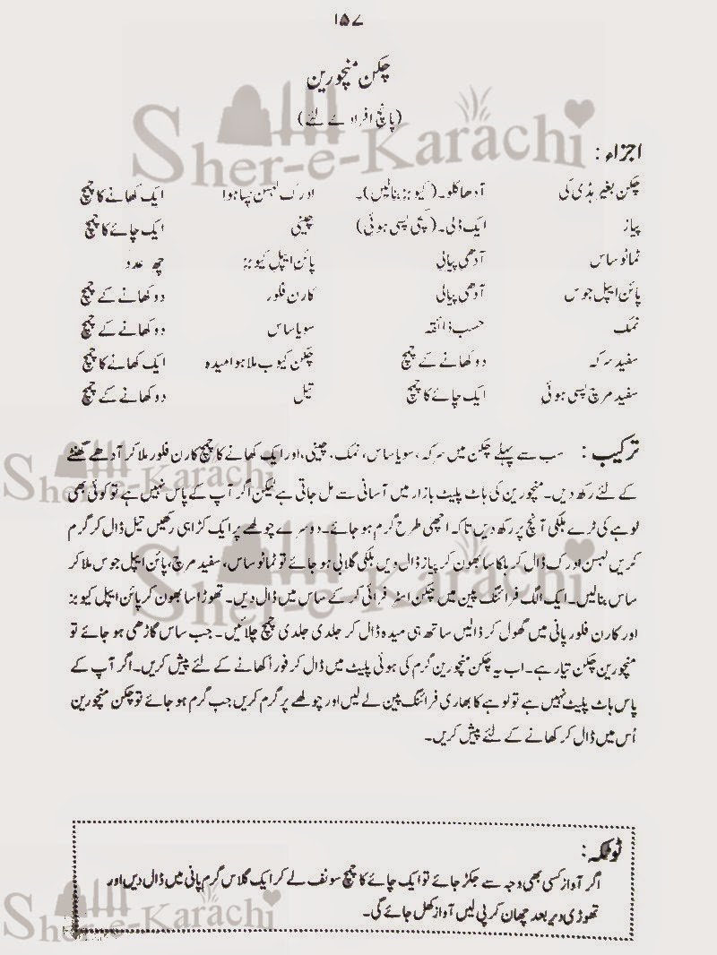 Chicken Manchurian Recipes | Shehar-e-Karachi: Urdu Column ...