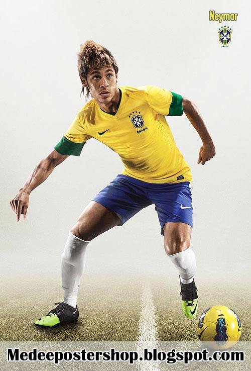 Neymar BRAZIL 2013 POSTER