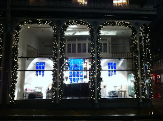 Christmas lights, somewhere near Bond Street, London