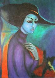 Ritratto-Olio su tela Grathiamaria Simonetti-(my mamy)