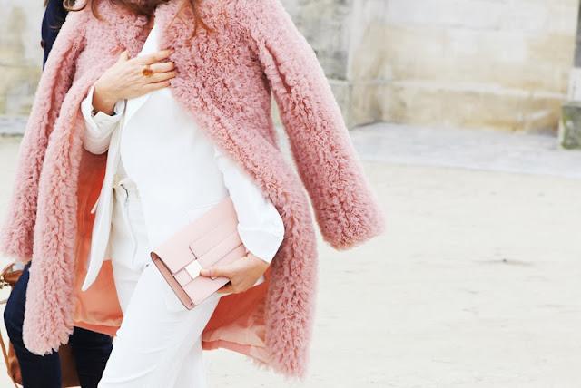 Soft pink. Abrigo rosa palo.