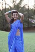 Neelam Upadhyay pics in Blue saree-thumbnail-21