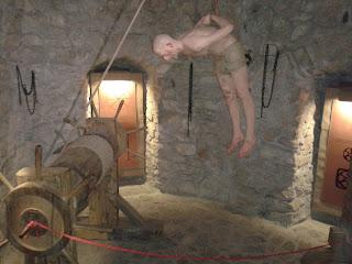 Castelul Huniarzilor: una din salile de tortura
