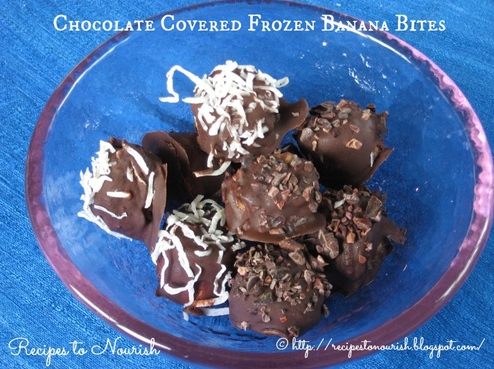 ... cake too, so we decided to make chocolate covered frozen banana bites