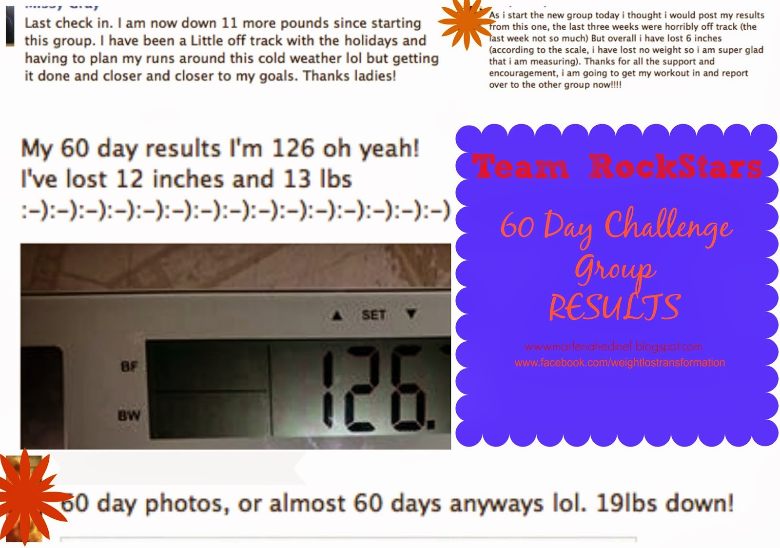 challenge group results, weighloss results, loose weight, drop pounds