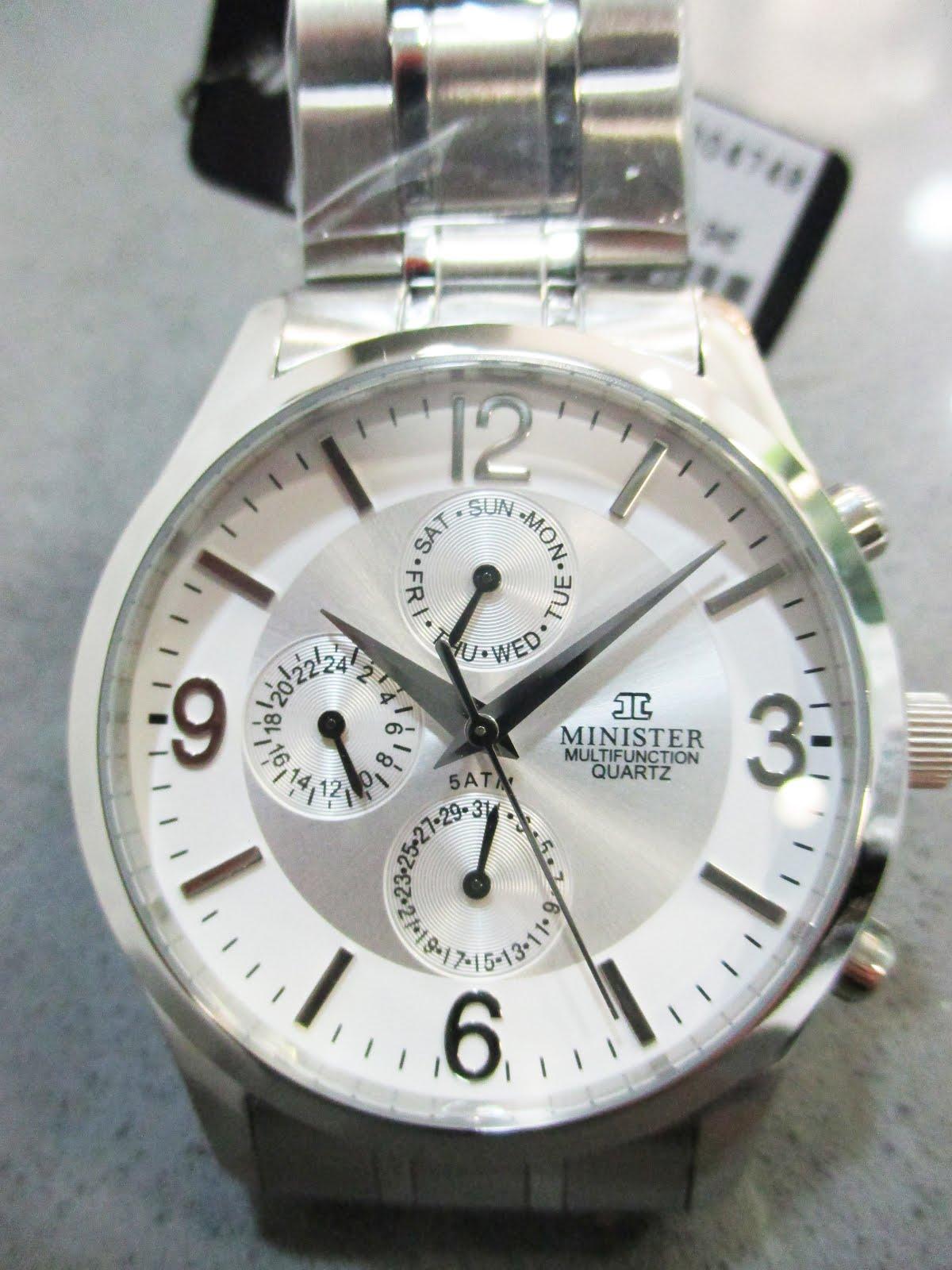 Reloj Minister acero caballero multifunción acuático