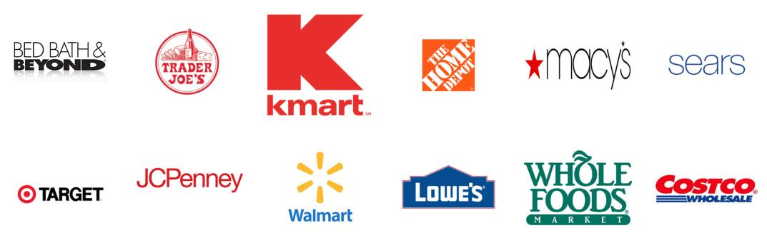 Get Your Product in The Following Big Box Retailers: