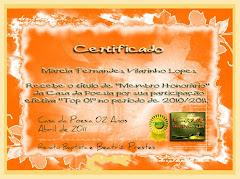 Membro Honorário - Casa da Poesia - 2010/2011