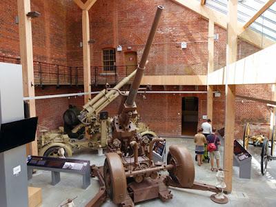 Fort Nelson, Portsdown Forts, Palmerston's follies, 3.7 AA gun, 88mm gun, Britain