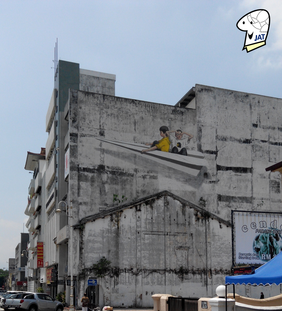 Mural: Kids on a Paper Plane.