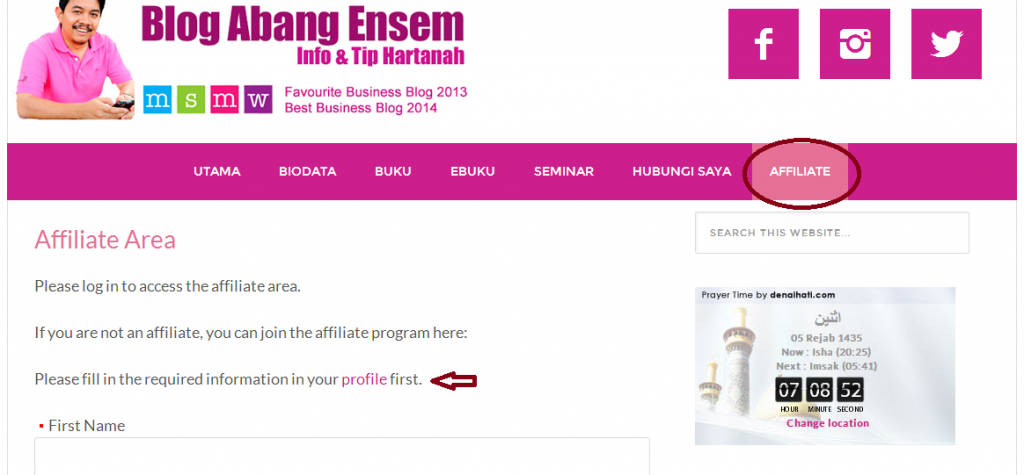 Program Affiliate Abang Ensem, Program, Affiliate, Abang, Ensem, blog