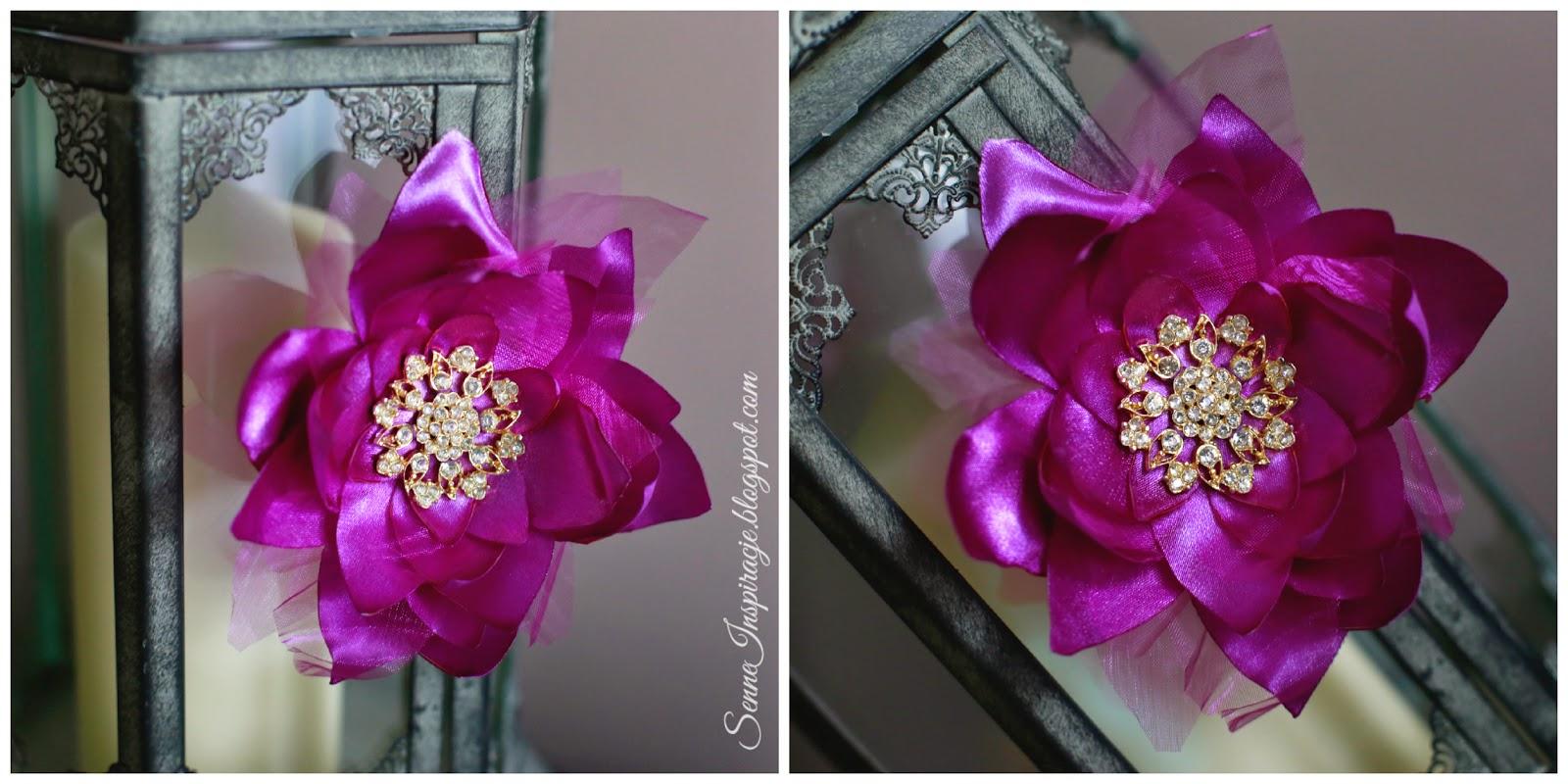 Jak zrobić kwiatka ze wstążki DIY