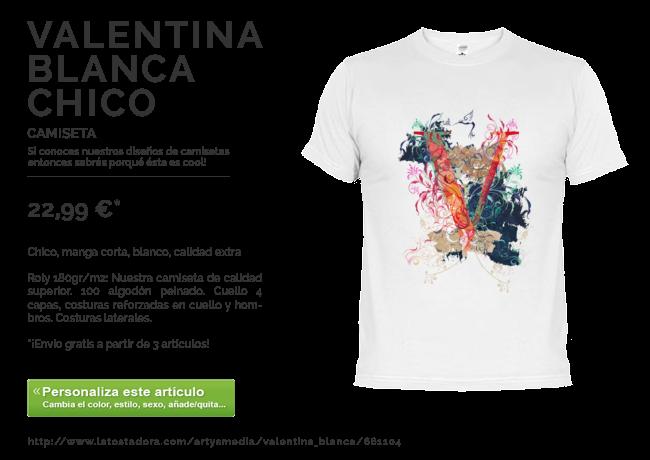 Camiseta VALENTINA BLANCA CHICO