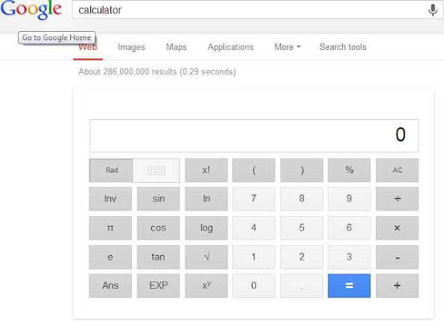 calculator on google