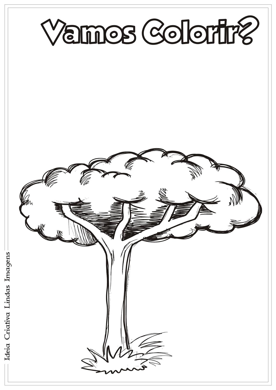 Dia da Árvore desenho para colorir