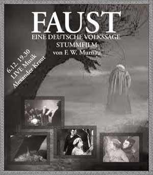 Bild: FAUST Stummfilm Flyer
