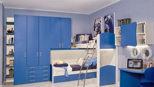 Dormitorios para ni os color azul colores en casa - Habitaciones pintadas para ninos ...