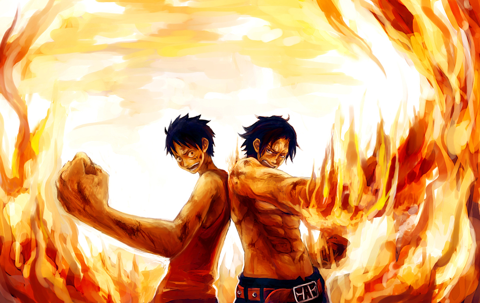 ace and luffy fighting wallpaper - photo #9