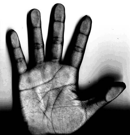 tangan jari hdr lima bye