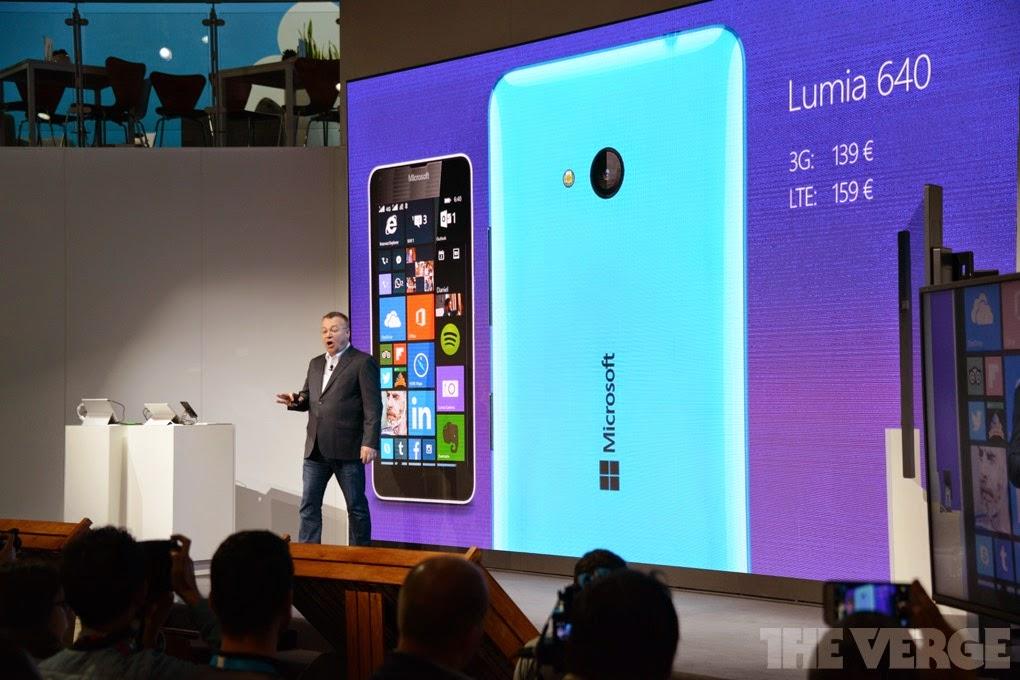 Lumia 640 Stephen Elop MWC 2015 Barcelona