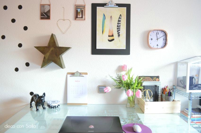 Mi espacio de trabajo en casa blog de decoraci n diy for Decoracion de espacios de trabajo